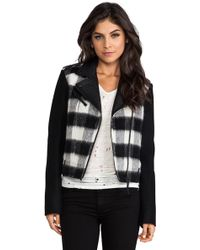 Mackage Shanty Buffalo Check Jacket in Black - Lyst