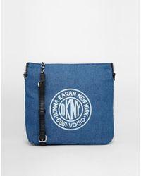 DKNY Active - Denim Cross Body Bag - Lyst