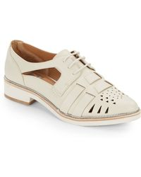 Dolce Vita Faux Leather Cut Out Oxfords - Lyst