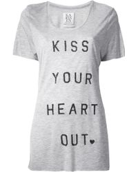 Zoe Karssen Kiss Your Heart Out Tshirt - Lyst