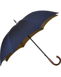 Barneys New York Blue Microdot Umbrella - Lyst