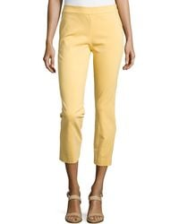 Natori Imperial Slim Ankle Pants - Lyst