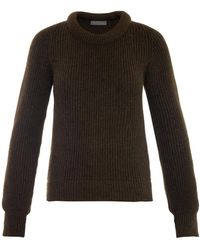 Christophe Lemaire Ribbed-knit Wool-blend Sweater - Lyst
