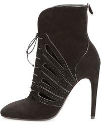 Bottega Veneta Suede Laceup Ankle Boot - Lyst
