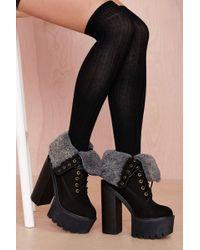 Nasty Gal Rise Up Socks - Black - Lyst