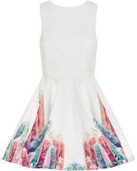 AQ/AQ Prism Flare Dress - Lyst