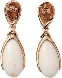 Inbar - Coral And Moonstone Drop Earrings - Lyst