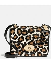 Coach Page Shoulder Bag in Printed Haircalf - Lyst