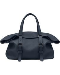 Gucci Leather Top Handle Duffle Bag - Lyst