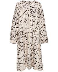 Prabal Gurung Snow Leopard Printed Velveteen Coat