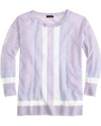 J.Crew Collection Featherweight Cashmere Verticalstripe Sweater - Lyst
