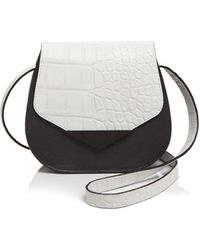 Facine - Mini Embossed Saddle Bag - Lyst