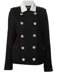 Gucci Shearling Lined Peacoat - Lyst