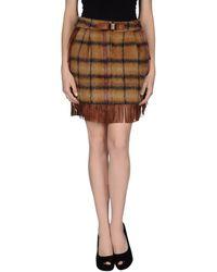 See By Chloé Brown Mini Skirt - Lyst