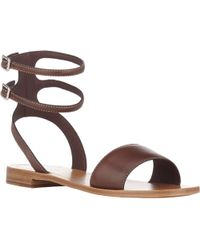 Prada Double Ankle-Strap Sandals - Lyst