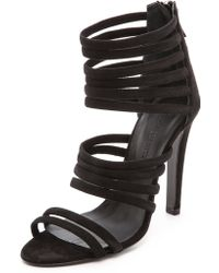 Charline De Luca Galatea Strappy Sandals Burgundy - Lyst