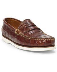 Pink Pony - Tamworth Crocodile Boat Shoe - Lyst