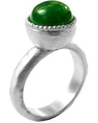 Chen Fuchs Jewelry Green Agate Gemstone Ring - Lyst