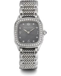 David Yurman Preowned Thoroughbred Ss Watch with Diamond and Black Mop Dial - Lyst