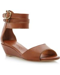 Pied a Terre | Laila Wedge Double Ankle Sandals | Lyst