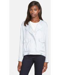 Trouvé Zip Front Jacket blue - Lyst