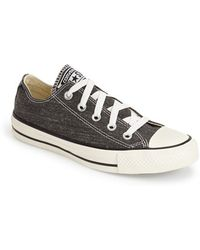 Converse Chuck Taylor All Star Washed Canvas 'Ox' Sneaker gray - Lyst