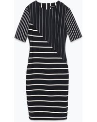 Zara Striped Patchwork Tube Dress - Lyst