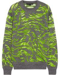 Alexander Wang Burnout Effect Wool Blend Sweater - Lyst
