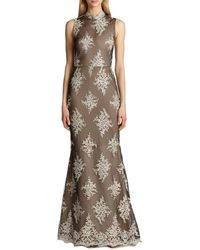 Alice + Olivia Felice Embroidered Gown - Lyst