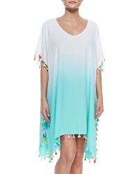 Seafolly Memphis Ombre Tassel-Trim Cover-Up - Lyst