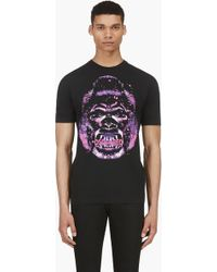 DSquared² Black and Pink Gorilla T_shirt - Lyst