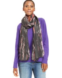 Eileen Fisher Elieen Fisher Extra-long Graffiti-print Scarf - Lyst