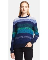 Proenza Schouler Women'S Mix Stripe Cotton Sweater - Lyst