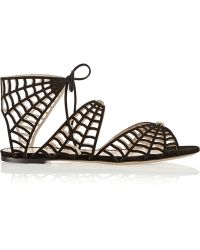 Charlotte Olympia Miss Muffet Cutout Suede Sandals - Lyst
