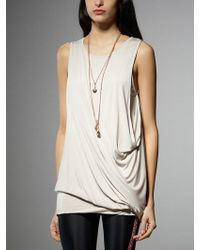 Patrizia Pepe Draped Top In Viscose With Necklace - Lyst