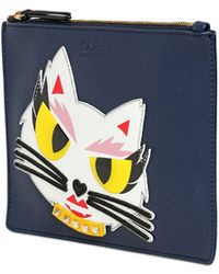 Karl Lagerfeld Monster Choupette Coated Canvas Pouch - Lyst