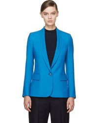 Stella McCartney Cerulean Blue Wool Twill Matt Blazer - Lyst