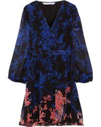 Diane von Furstenberg - Celia Printed Silk-chiffon Mini Dress - Lyst