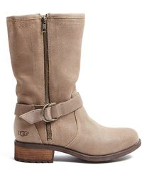 Ugg Silvia Suede City Boot - Lyst