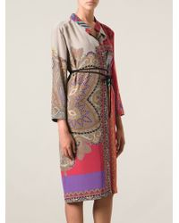 Etro Wrap Paisley Print Dress - Lyst