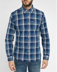 Levi's | Blue Denim Sunset Pr Checked Shirt | Lyst