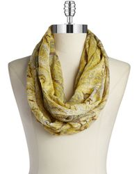 William Rast - Paisley Loop Scarf - Lyst