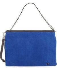 Halston Heritage | Chain-Strap Suede Shoulder Bag | Lyst