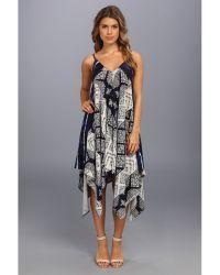 DKNY Tribal Tie Dye Hankerchief Dress - Lyst