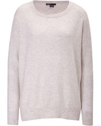 Vince Cashmere Square Neck Sweater - Lyst