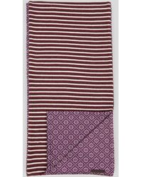 Ted Baker Prescot Knit and Woven Scarf - Lyst
