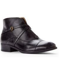 Isaac Mizrahi New York - Black Straps Ankle Boots - Lyst