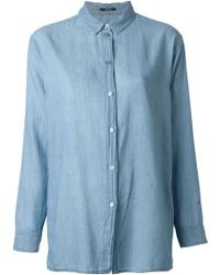 Denham Blue Denim Shirt - Lyst