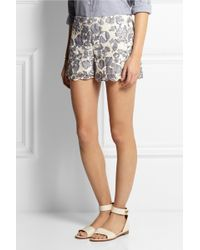 Tory Burch Kammy Guipure Lace Shorts - Lyst