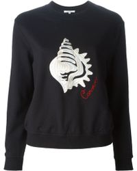 Carven Shell Embroidery Sweatshirt - Lyst
